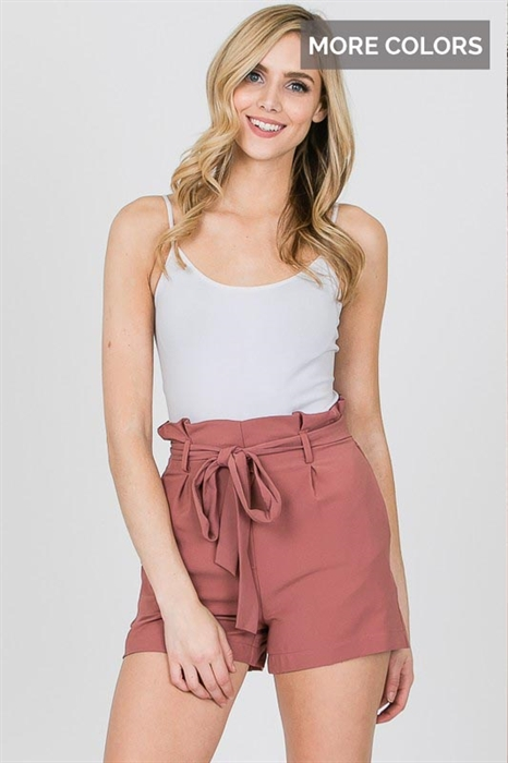 Picture of High Waist Front Tie Shorts